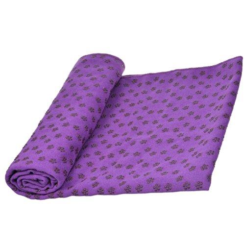 Cosmos® Purple Color Microfiber Non Skid Yoga / Pilates