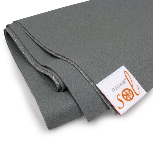 Gaiam Sol Thin-Grip Yoga Mat (Slate