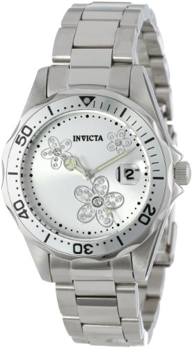 invicta women 39 s 12506 pro diver silver dial crystal. Black Bedroom Furniture Sets. Home Design Ideas