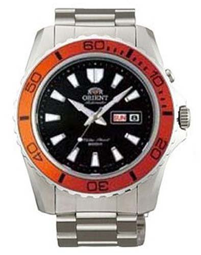 Orient automatic dive watch cem75004b orange bezel mako - Orange dive watch ...
