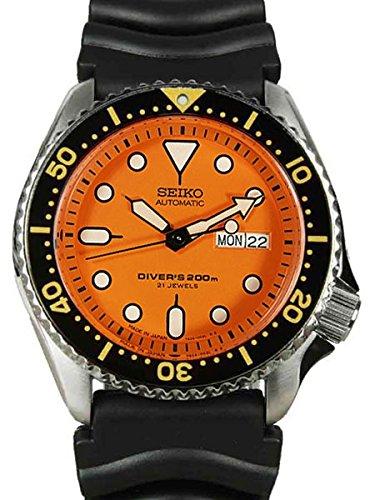 Seiko diver orange dial automatic mens watch skx011j1 - Orange dive watch ...